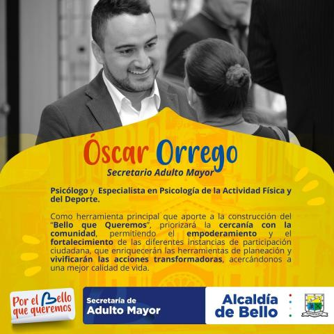 Oscar Orrego Secretario del Adulto Mayor